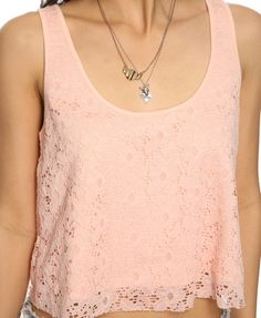 Cropped Lace Tank | FOREVER21 - 2000038048