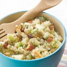 Quinoa Salad with Apples and Almonds | Spoonful. I omit celery and add dried cranberries.