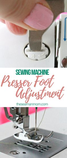 SEWING MACHINE PRESSER FOOT ADJUSTMENT - Every type of fabric needs a different sewing machine presser foot adjustment. Here you'll learn how to change the presser foot tension on a sewing machine according to your own project!  #easypeasycreativeideas #sewing #sewingtutorial #sewingprojects #sewinginspiration #sewingtip
