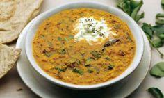 Food-Vegetarian Spiced Red Lentils with Cumcumber Yogurt