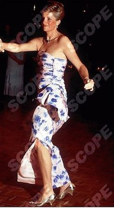 1988-01-27 Diana and Charles whizz around the dance floor to the strains of Glen Miller's 'In The Mood' at an Australia Day Dinner and Dance, Hyatt Hotel, Melbourne