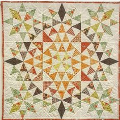 Isn't this #kaleidoscopequilt made by @mamieamyh gorgeous? The best part about it is that she made it for her grandmother and it is hanging on a wall somewhere is Georgia. Maybe her Grandma lives close enough for me to drive and see this little beauty. #southernfabric #quilting #sewing #quilts #miniquilt