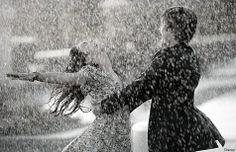 break love rain dancing in