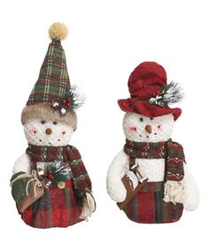 This Plush Standing Snowman - Set of Two is perfect! #zulilyfinds
