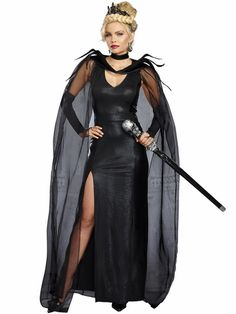 Queen of Mean Black Witch Costume
