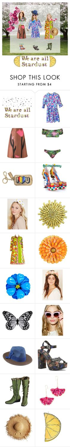 """We are all Stardust!"" by zazaofcanada ❤ liked on Polyvore featuring Marni, Anya Hindmarch, Dolce&Gabbana, Forever 21, Emilio Pucci, Visionnaire, A.J. Morgan, Chicnova Fashion, Nine West and Khrió"
