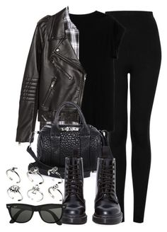 """""""Style #9852"""" by vany-alvarado ❤ liked on Polyvore featuring Topshop, Isabel Marant, H&M, Alexander Wang, Dr. Martens, Ray-Ban, ASOS, women's clothing, women and female"""