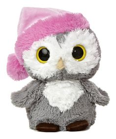 8'' Pink Hat Wise Owl Plush Toy #zulily #zulilyfinds