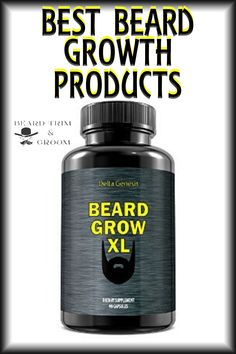 Selection of some of the best beard growth products to help you grow a thicker beard. Here you can discover various facts about growing a beard.  Read more about beard growth at beardtrimandgroom.com. #beardgrowth #thickerbeard Natural Beard Growth, Beard Growth Tips, Vitamins For Beard Growth, Beard Hair Growth, Facial Hair Growth, Natural Beard Oil, Beard Tips, Grow A Thicker Beard, Best Beard Care Products
