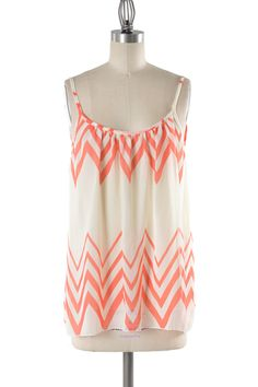 Summertime Coral at Personality Boutique coral chevron top