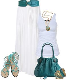 """Maxi Skirt 3"" by johnna-cameron on Polyvore"