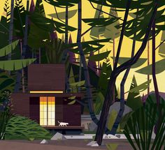 Gorgeous Cabin Illustrations by Marie Laure Cruschi