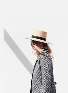 Janessa Leone straw hat. | @andwhatelse