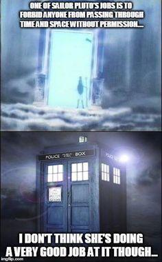 Loool #Sailor Moon #Doctor Who