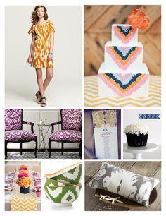 ikat pattern wedding theme