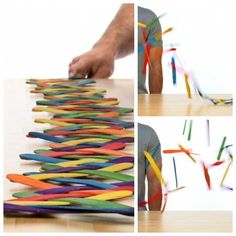 Amaze Your Kids with this Popsicle Stick Chain Reaction!