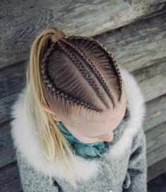 Cornrows into a ponytail . Cornrows into a pon Cute Girls Hairstyles, Kids Braided Hairstyles, Curly Hair Styles, Natural Hair Styles, Braids For Kids, Toddler Hair, Love Hair, Hair Looks, Hair Inspiration
