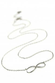 infinity kette sterling silber unendlichkeit symbol
