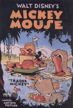 """Filme / Zeichentrick: """"Mickey Mouse-Trader Mickey"""" (USA 1932; von Walt Disney im Verleih der United Artists Picture).-Amerikanisches Filmplakat.-Privatsammlung. MONDADORI PORTFOLIO/AKG Images"""