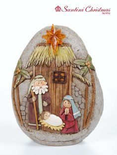 Nacimiento más house on the rock, nativity crafts, christmas art, christmas nativity scene Pebble Painting, Pebble Art, Stone Painting, Rock Painting, Christmas Rock, Christmas Nativity Scene, Stone Crafts, Rock Crafts, Nativity Crafts