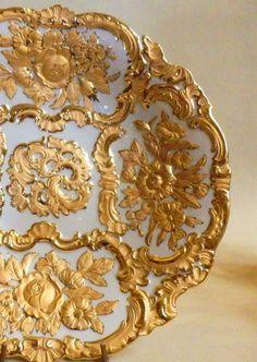Prunkteller Meissen  Gold