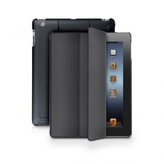 An ultra sleek iPad 3 shell case that improves upon traditional shell cases by including a smooth rubberized shell for the back and a protective lid for the display.
