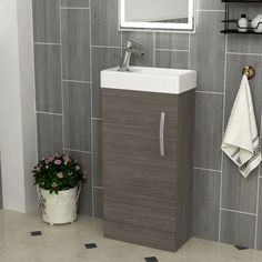 The 400mm wide 1 Door Floor Standing vanity unit with Basin sink on top is the perfect storage cabinet for cloakrooms. It Supplied fully assembled in a single package. Check now! ............................................................................................................................................#VanityUnit #BathroomDesign #FloorStandingSinkUnit