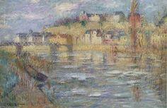 """""""Glace sur la rivière Oise"""" de Gustave Loiseau (1865-1935, France)"""
