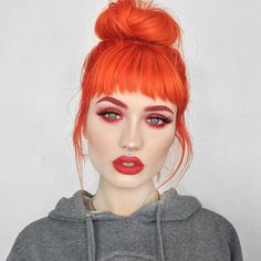 "25k Likes, 162 Comments - Vegan + Cruelty-Free Color (@arcticfoxhaircolor) on Instagram: ""New season new hair @sn0ok in Sunset Orange Salon: @blondiesthesalon Stylist: @foxxy_locksy"""