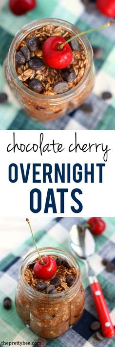 An easy and delicious recipe for chocolate cherry overnight oats. You'll love waking up for this breakfast! Dairy Free Chocolate Chips, Chocolate Recipes, Best Breakfast Recipes, Breakfast Ideas, Vegan Breakfast, Breakfast Time, Top Food Allergies, Chocolate Overnight Oats, Dairy Free Recipes
