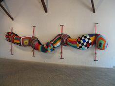 Joana Vasconcelos, Pantelmina, 2004 Soft Sculpture, Wall Sculptures, Textiles, Creative Connections, Alphabet Art, Yarn Bombing, Weaving Art, Gourd Art, Textile Artists