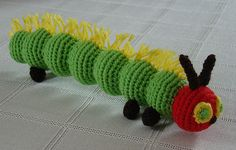 Very Hungry Caterpiller | Free crochet pattern via Ravelry
