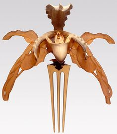 "DIADEMA ""ORCHIDS"" Lalique. Horn, ivory, gold and citrine"