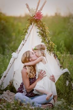catching daydreams flower child joyfolie pose boho whimsy art wildflower mommy and me teepee hippie at heart
