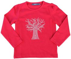 T-shirt with a glitter tree. Danish designed fashion for kids.