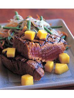 Sweet & Spicy Curry Grilled Tuna! Yummy!
