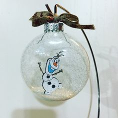 Christmas ornaments, Olaf inspired floating Christmas ball, Christmas ornament, Frozen inspired ornament, Olaf inspired Christmas ball by CreativeCraftRooms on Etsy https://www.etsy.com/listing/455419568/christmas-ornaments-olaf-inspired