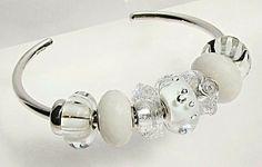 :-)   White bangle - Another Classy #trollbead bangle.  Elegant.