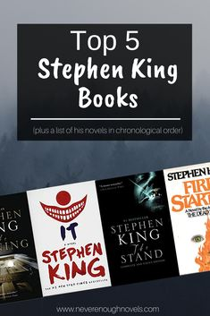 A list of the best Stephen King books. My husband and I each picked our Top 5 favorite Stephen King books. Also includes all his novels in order of release. Good Books, Books To Read, Stephen King Novels, Steven King, Short Novels, Film Books, Book Lists, Reading Lists, What To Read