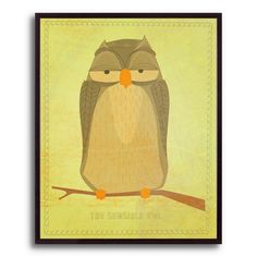 10.5 in. The Sensible Owl by John W. Golden Framed Print | Shop at the Foundary