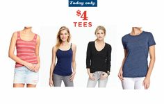 Old Navy $4 Tees for
