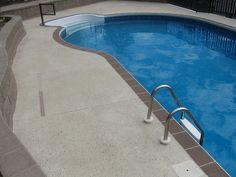 non slip material Pool Enclosures, Swimming Pools, Outdoor Decor, Home Decor, Swiming Pool, Swimming Pool Decks, Pools, Decoration Home, Room Decor