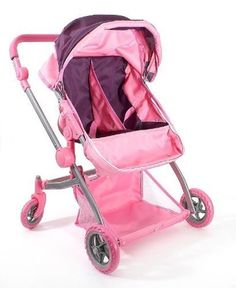 Barbie Dolls Strollers Girls Games Deluxe Multi Function Travel Courtyard Pink #DollStrollersPro #CarriagesStrollers