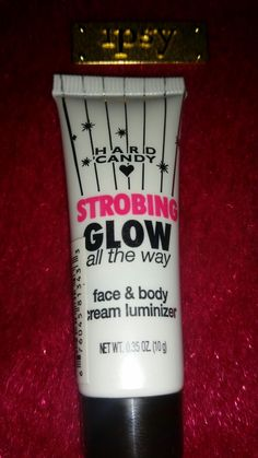 Swatched 1x: Hard Candy Strobing glow face & Body Cream luminizer.  Swap or $2.50