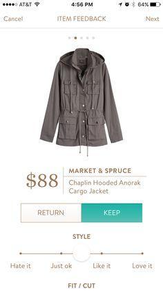 Market & Spruce Chaplin Hooded Anorak Cargo Jacket
