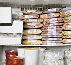 well organized freezer, and works for deep freezes too, although best if have sections in it too
