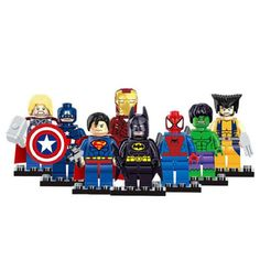 8pcs/lot Marvel The Avengers Super Hero  Mini Captain Action Figures Building Toy Gift DIY Character Collection Animation Model #>=#>=#>=#>=#> Click on the pin to check out discount price, color, size, shipping, etc. Save and like it!