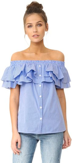 Petersyn Skye Ruffle Off The Shoulder Top on ShopStyle