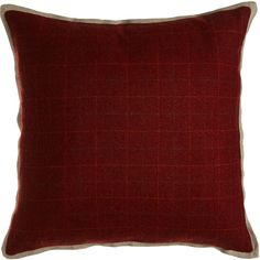 Legacy Home New Castle Merlot Plaid Pillow (1.110 VEF) ❤ liked on Polyvore featuring home, home decor, throw pillows, plaid home decor and plaid throw pillows