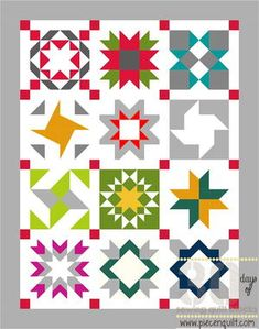 Star Sampler Quilt Pattern | FaveQuilts.com
